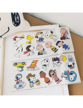 cheng-pin-1pc-lovely-snoopys-waterproof-oil-proof-stationery-decorative-sticker-hand-account-notebook-computer-creative-sticker by aliexpresscom
