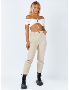 the-houghton-pants-beige by princess-polly