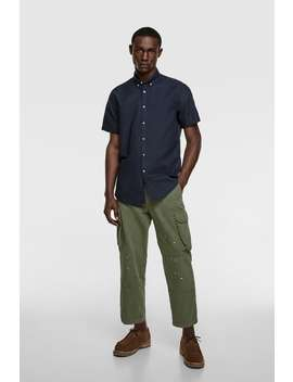 short-sleeved-oxford-shirt by zara