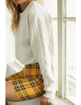 french-terry-cable-knit-top by forever-21
