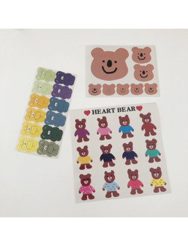 sixone-ins-cute-cherry-little-bear-decorative-stickers-korean-girl-hand-account-labels-notebook-sticker-stationery-seal-sticker by aliexpresscom