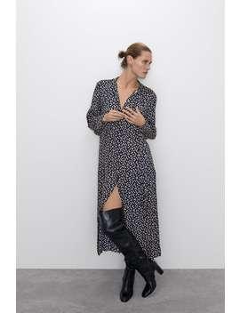 lange-jurk-met-stippen by zara