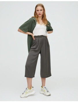 satin-culottes by pull-&-bear