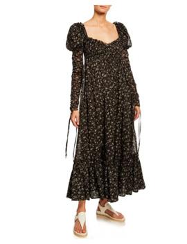 alexander-mcqueen-floral-print-long-sleeve-maxi-dress by alexander-mcqueen