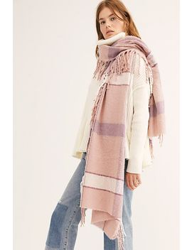 valley-plaid-fringe-scarf by free-people