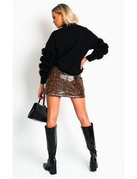 jorgie-faux-fur-jumper-in-black by ikrush