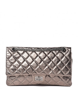 chanel-metallic-aged-calfskin-quilted-255-reissue-226-flap-pewter by chanel