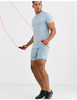 asos-4505-icon-training-shorts-in-mid-length-with-quick-dry-in-chalk-blue by asos-4505