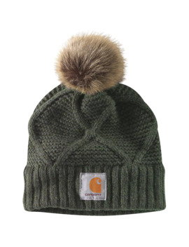 cable-knit-pom-hat by carhartt