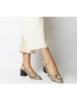 Mindless Point Slingback Court Heels by Office