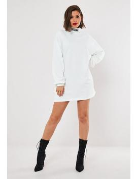 Cream Original High Neck Sweater Dress by Missguided