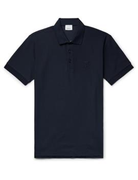 logo-embroidered-cotton-piqué-polo-shirt by burberry