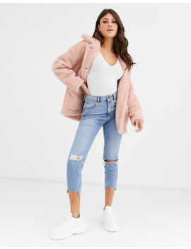 boohoo-teddy-borg-jacket-in-pale-pink by boohoo