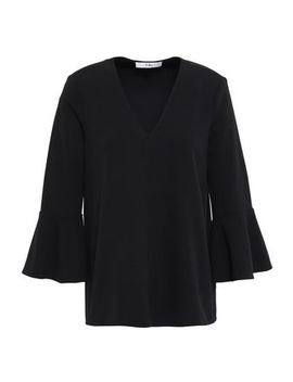 fluted-crepe-blouse by tibi