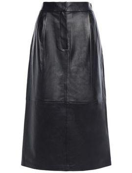 leather-midi-skirt by tibi