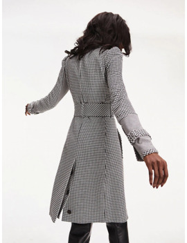 zendaya-houndstooth-check-trench-coat by tommy-hilfiger