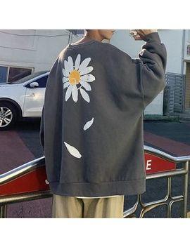 yergo---flower-print-pullover by yergo