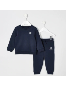 mini-boys-navy-jogger-outfit by river-island