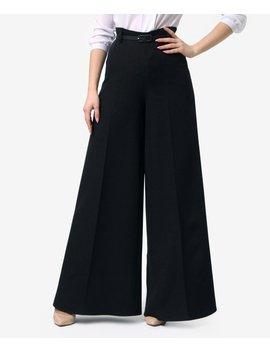 Black Wide Leg Trousers   Women &Amp; Plus by Lila Kass