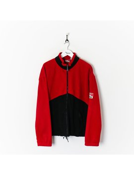 Marlboro Zip Fleece Red/Black Xl by Marlboro