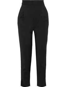 pleated-crepe-tapered-pants by tibi