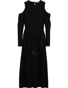 cold-shoulder-crepe-midi-dress by tibi