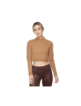 Adidas Women's Id Crop Ls Tee   Raw Desert by Adidas