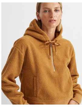 teddy-quarter-zip-hoodie by club-monaco