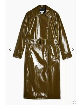 topshop-*olive*-vinyl-trench-coat-uk-size-10-bnwt by ebay-seller
