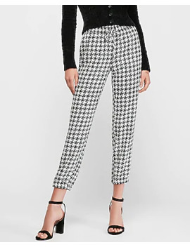 high-waisted-houndstooth-print-jogger-pant by express