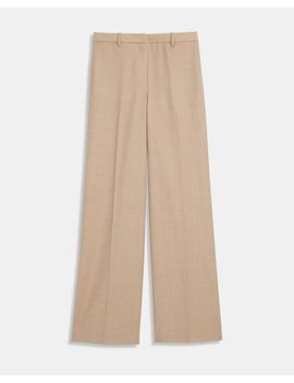 Sleek Flannel Wide Pant by Theory