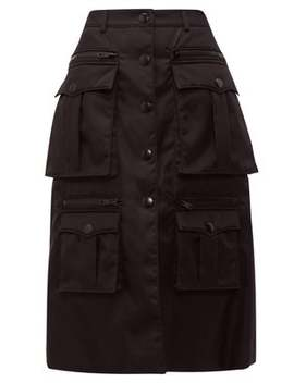 statement-pocket-nylon-cargo-skirt by prada
