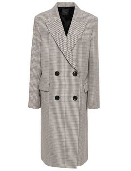 double-breasted-houndstooth-cotton-and-wool-blend-coat by theory