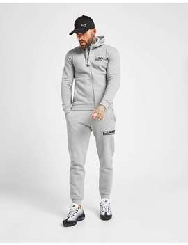 emporio-armani-ea7-visibility-logo-full-zip-fleece-tracksuit by jd-sports
