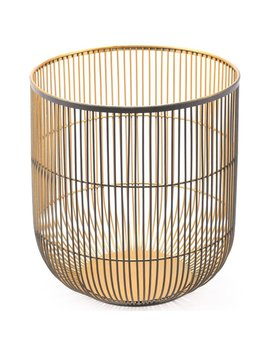 Zuo Large Jaula Candle Holder In Matte Black And Gold Keep In Touch by Homes Quare