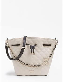 Miriam Chain Strap Logo Bucket Bag by Guess