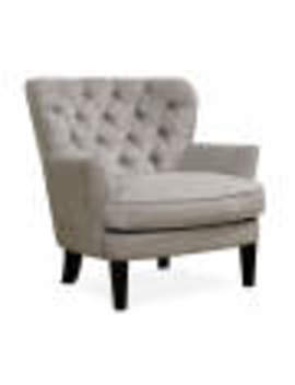 Lunar Gray Tufted Accent Chair by Lunar Gray Tufted Accent Chair