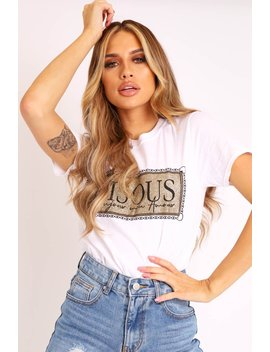 white-gold-glitter-slogan-t-shirt---amma by rebellious-fashion