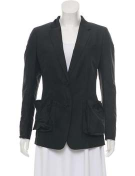 belted-lightweight-blazer by prada-sport