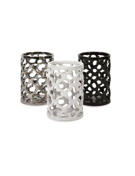 Imax Corporation Morgan 3 Piece Cutout Tealight Candle Holder Set Keep In Touch by Homes Quare