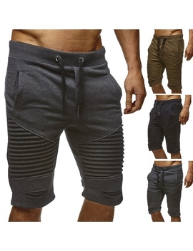 fashion-mens-shorts-summer-casual-sport-fashion-shorts-for-men-knee-pleated-lac-up-waist-jogger-pants by wish
