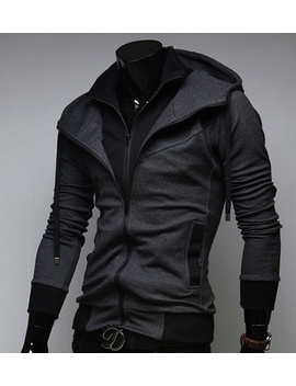 2019-mens-fashion-sweater-cardigan-hooded-jacket-high-quality-casual-sport-hoodies-coat by wish