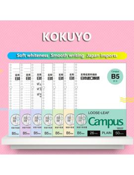 jianwu-japan-kokuyo-macaron-note-book-loose-leaf-inner-core-a5-b5-notebook-diary-plan-binder-office-school-supplies-ring-binder by aliexpresscom