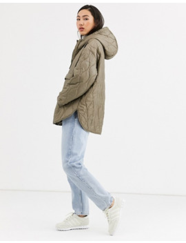 weekday-mira-quilted-anorak-in-mole-light-khaki by weekday