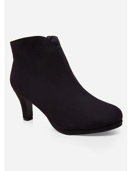 faux-suede-wide-width-booties by ashley-stewart