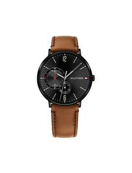 Tommy Hilfiger Men's 40mm 1791510 Leather Watch   Brown/Black by Tommy Hilfiger
