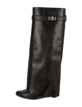 leather-shark-knee-high-boots by givenchy