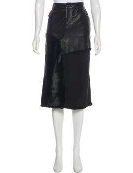 frayed-leather-skirt by tom-ford