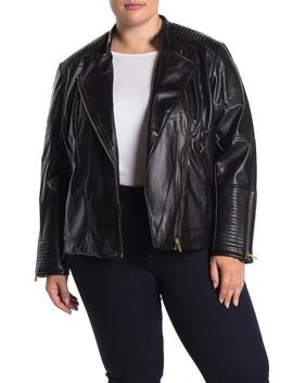 faux-leather-zip-moto-jacket-(plus-size) by catherine-catherine-malandrino