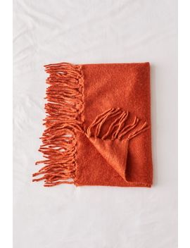 brushed-fringe-trim-throw-blanket by urban-outfitters